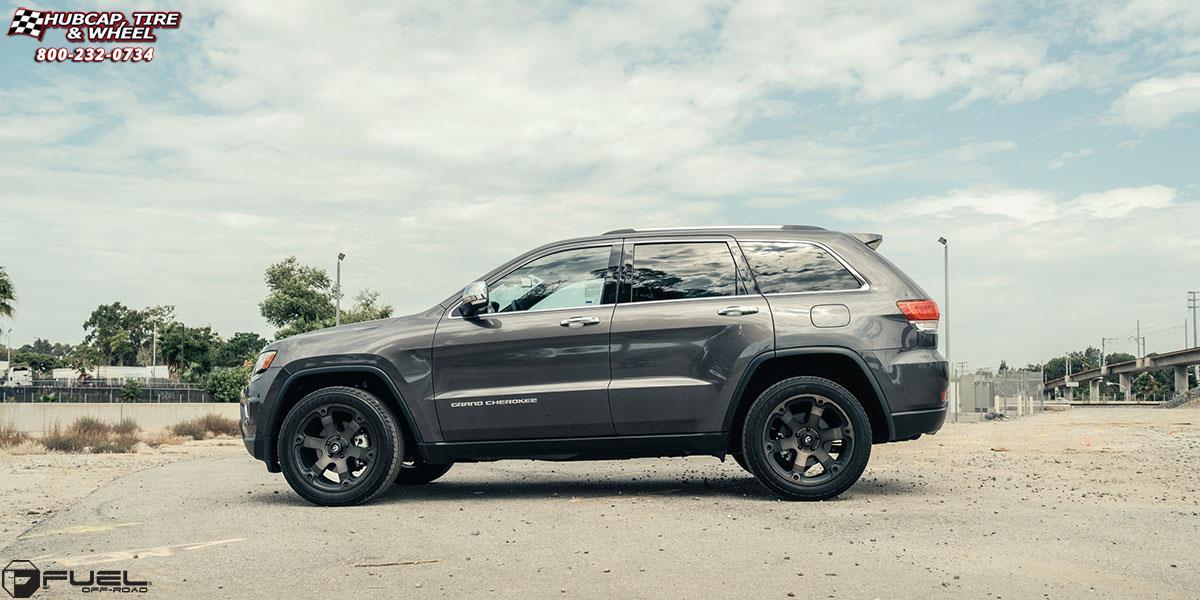 Jeep Grand Cherokee Fuel Beast D564 Wheels Black Amp Machined With Dark Tint
