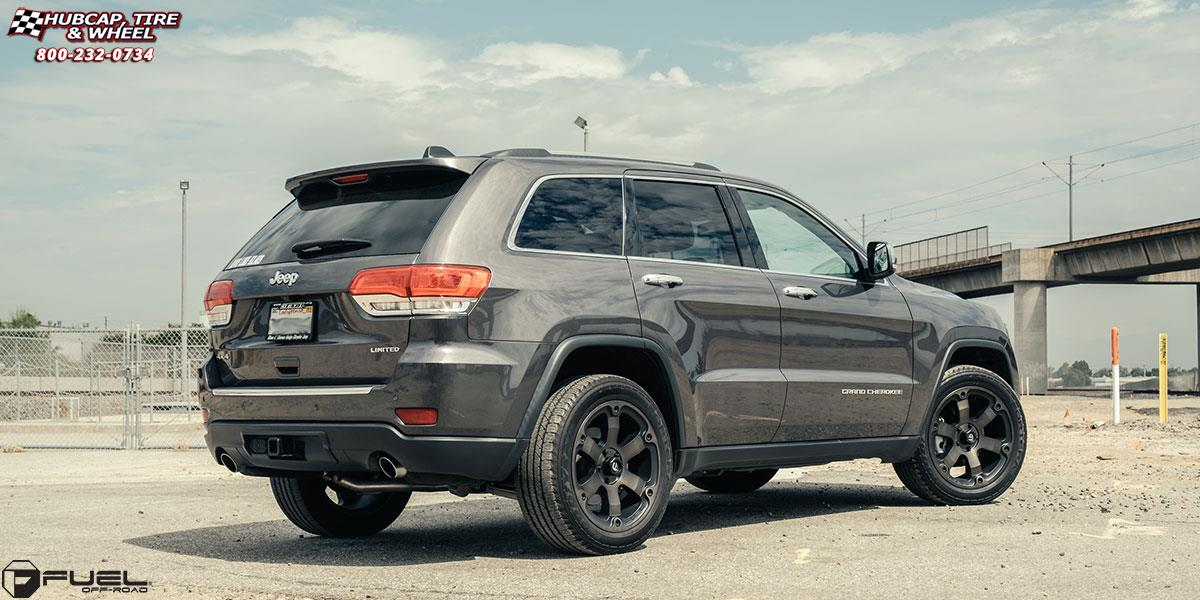 jeep grand cherokee fuel beast d564 wheels black machined with dark tint. Black Bedroom Furniture Sets. Home Design Ideas
