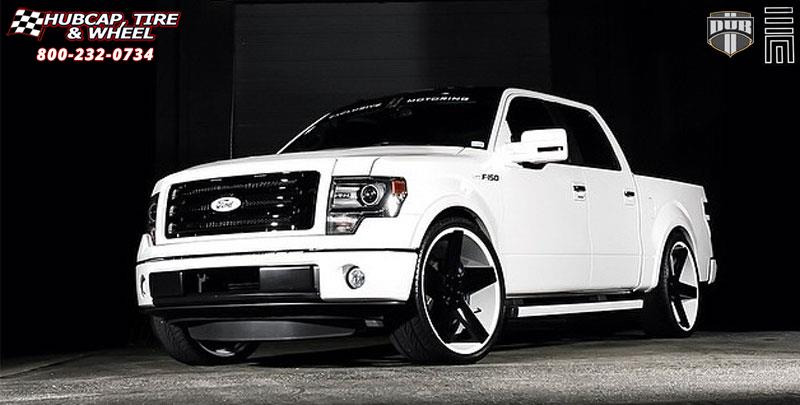 Ford F-150 Dub Baller - S116 Wheels Black & Machined with ...
