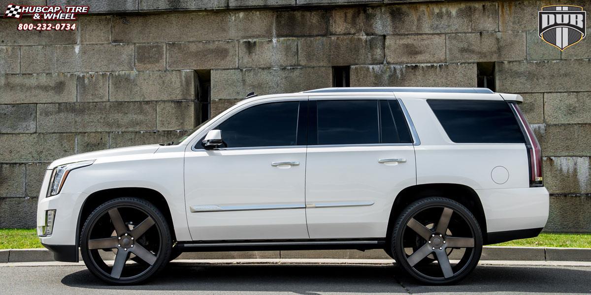 Cadillac Escalade With Black Rims >> Cadillac Escalade Dub Baller - S116 Wheels Black & Machined with Dark Tint