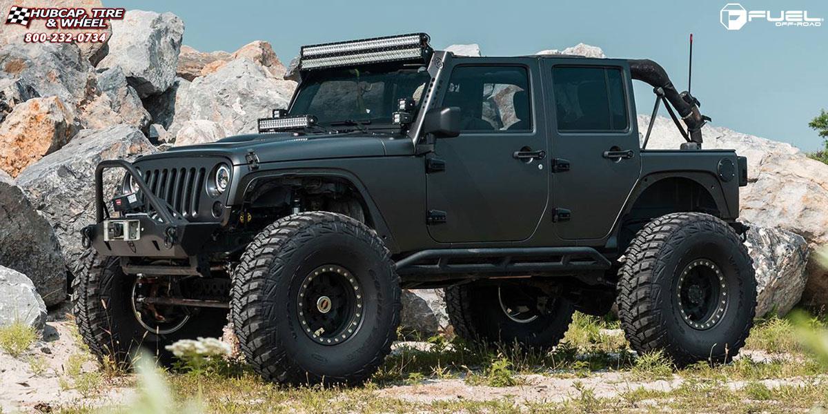 fuel anza jeep beadlock wrangler d116 wheels rims machined wheel raw 17x9 tire road