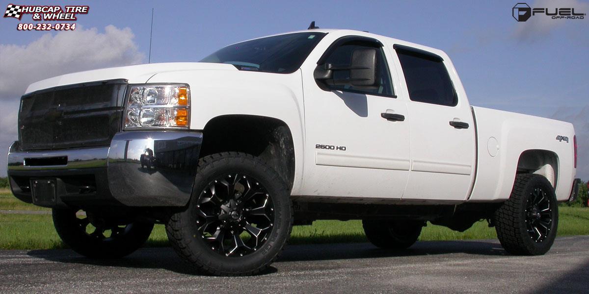 chevrolet silverado fuel assault d546 20X9 Black & Milled wheels and ...