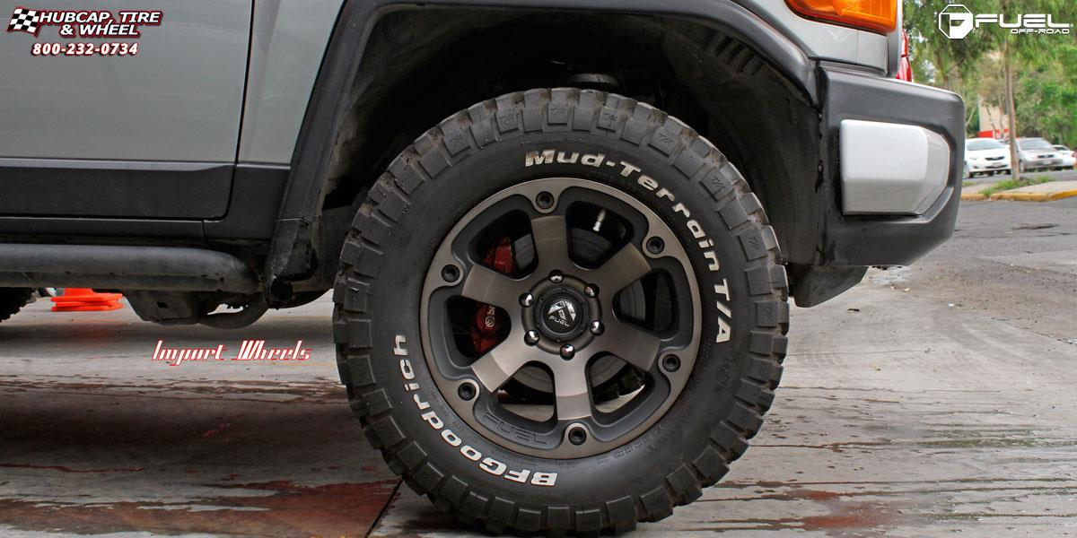 Suzuki Tire Size >> Toyota FJ Cruiser Fuel Beast D564 Wheels Black & Machined with Dark Tint