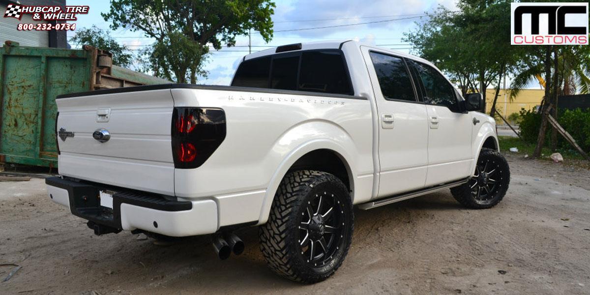Ford F 150 Fuel Maverick D538 Wheels Black Amp Milled