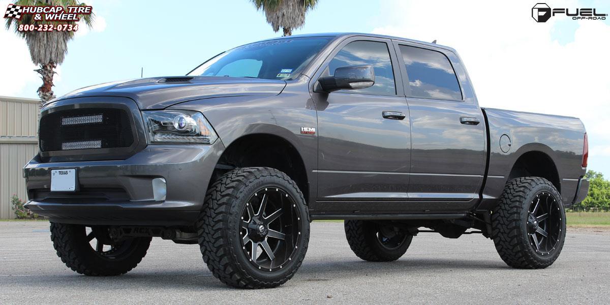 Custom 2003 Dodge Ram 1500 >> Dodge Ram 1500 Fuel Maverick D262 Wheels Black & Milled