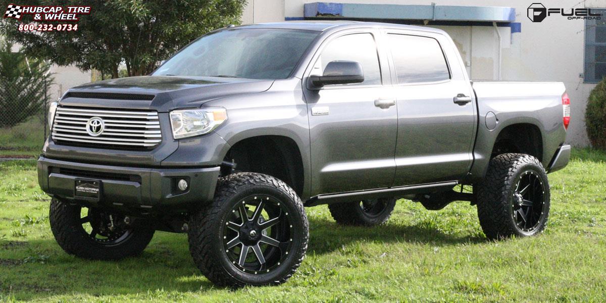 2002 Toyota Tacoma Lifted >> Toyota Tundra Fuel Maverick D262 Wheels Black & Milled