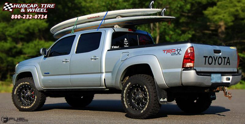 Toyota Tacoma Fuel Revolver D525 Wheels Matte Black Amp Milled