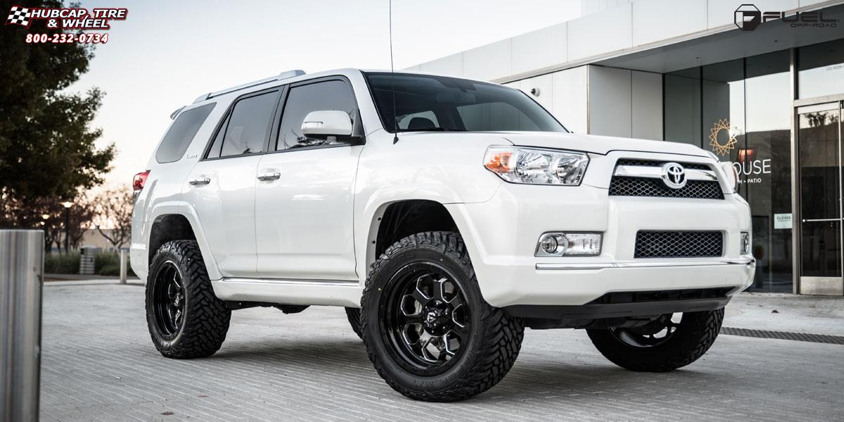 toyota 4runner fuel savage d563 wheels gloss black w. Black Bedroom Furniture Sets. Home Design Ideas