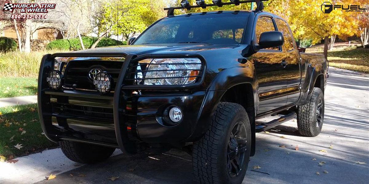 toyota tacoma fuel pump d515 wheels matte black. Black Bedroom Furniture Sets. Home Design Ideas