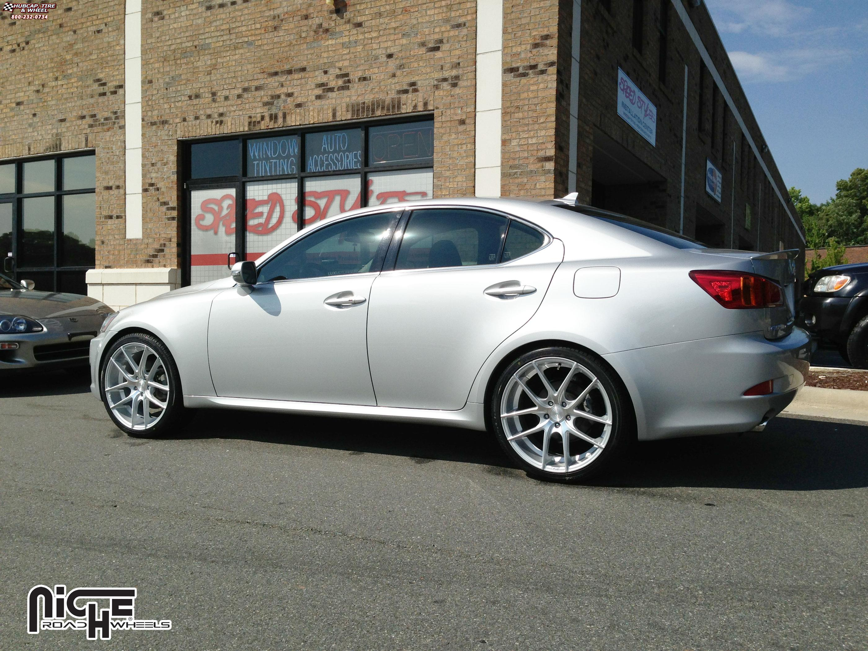 Lexus Is250 Niche Targa M131 Wheels Silver Amp Machined
