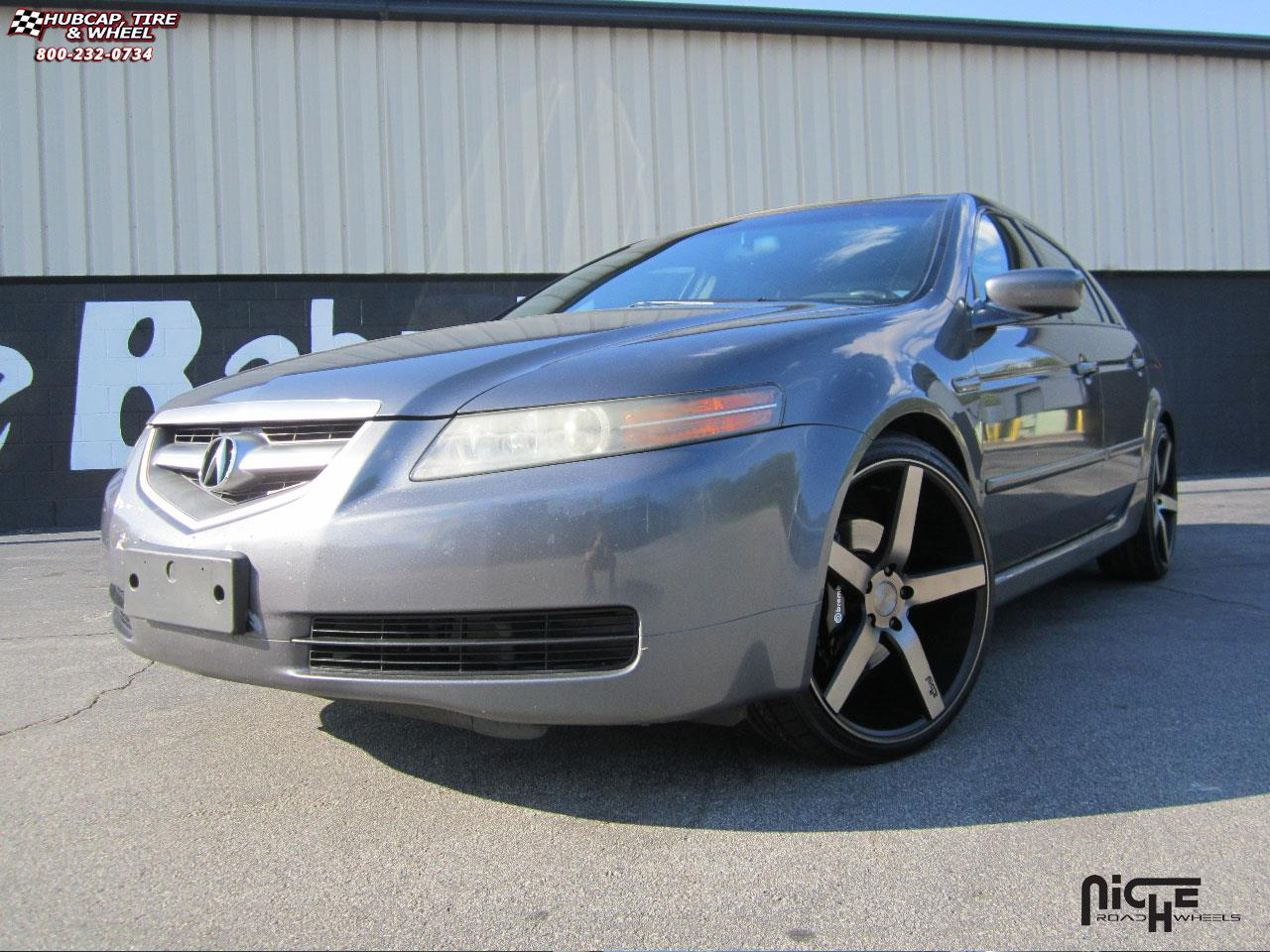 acura tl niche milan m134 wheels black machined with. Black Bedroom Furniture Sets. Home Design Ideas