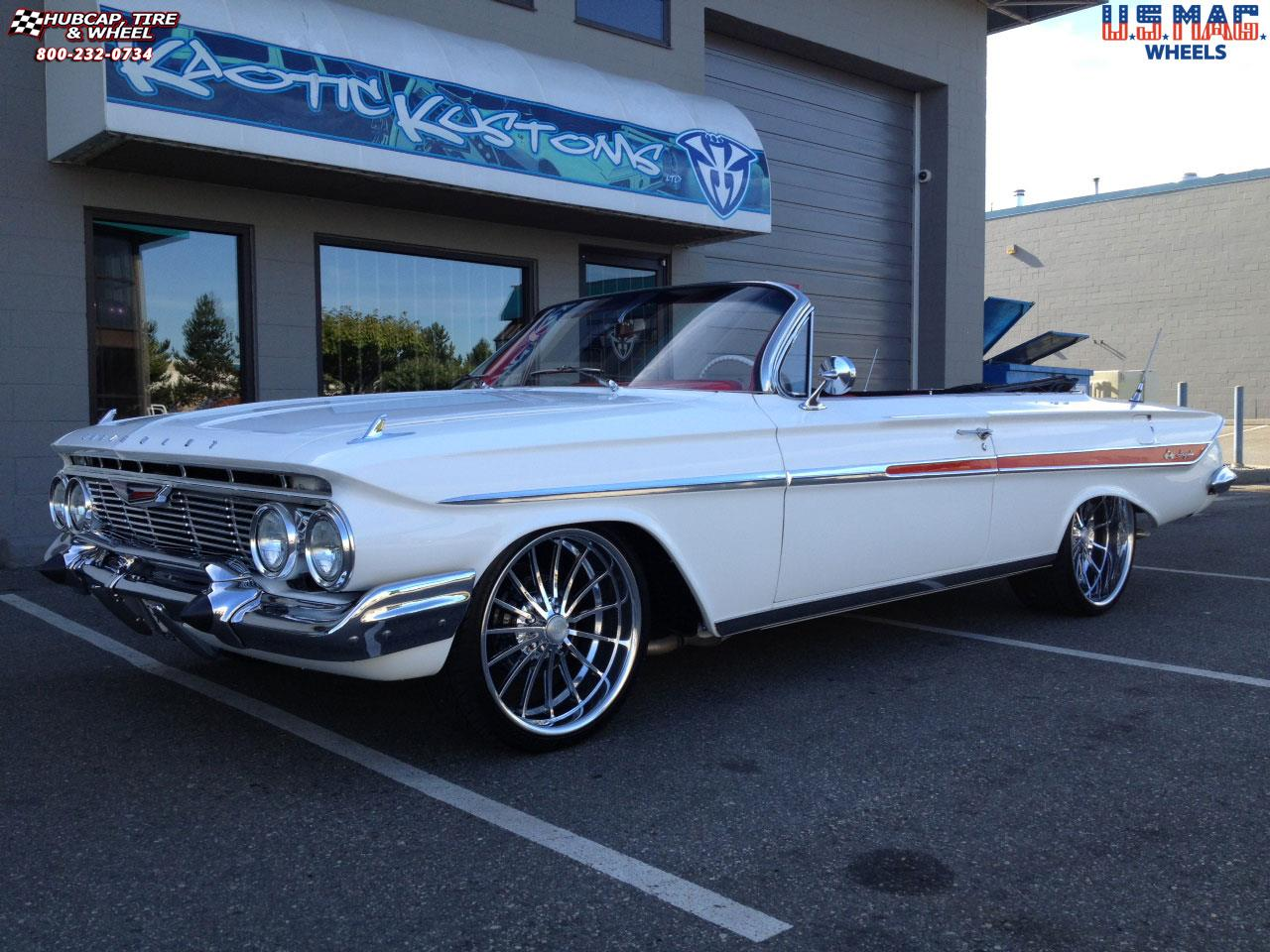 chevrolet impala us mags heritage u427 wheels polished. Black Bedroom Furniture Sets. Home Design Ideas
