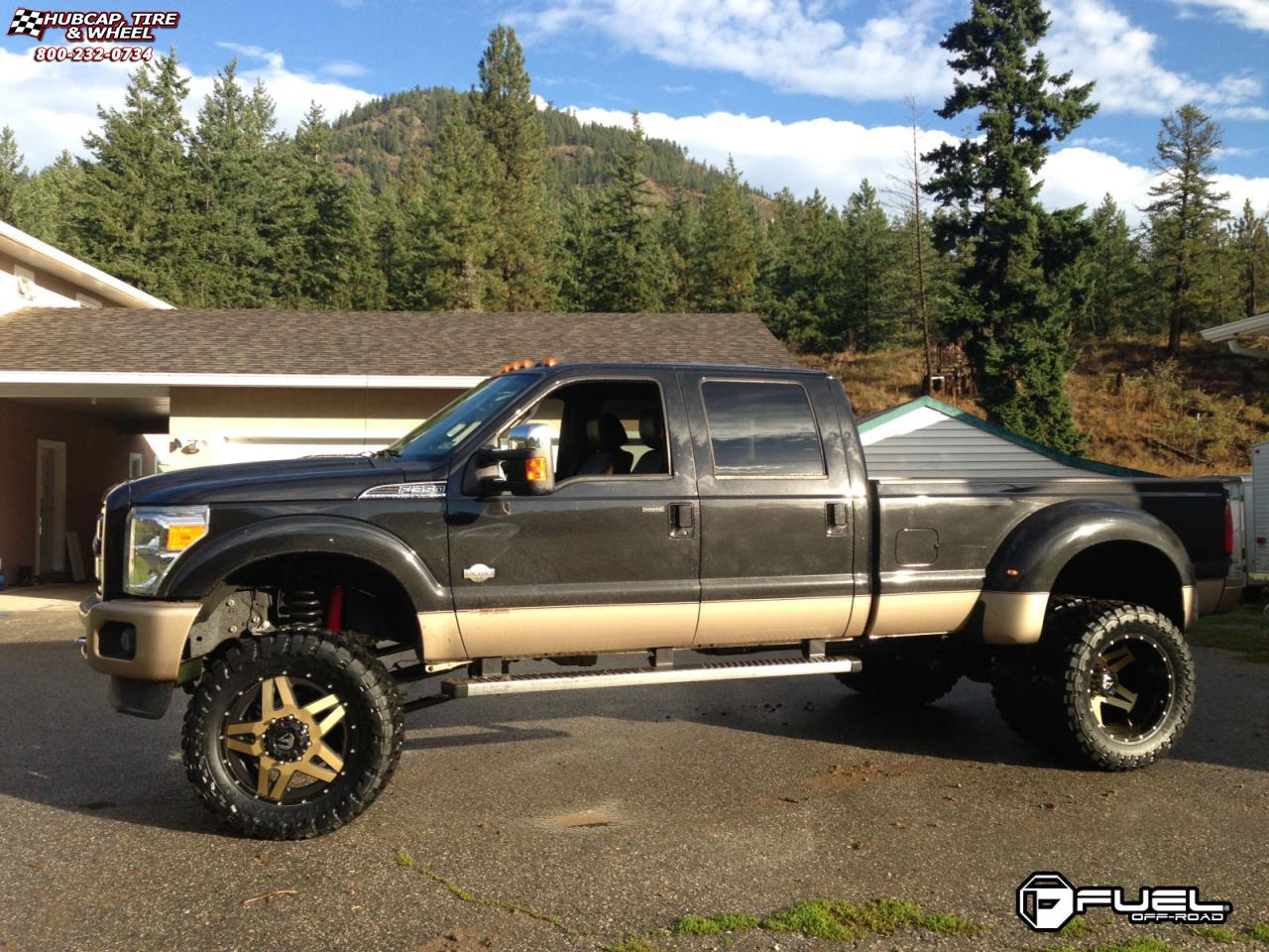 Ford F 350 Super Duty Fuel Full Blown Dually Front D254