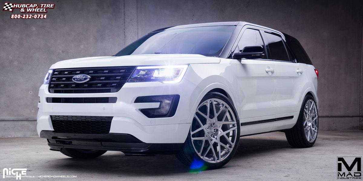 Ford Explorer Niche Alpine Wheels Brushed Face High