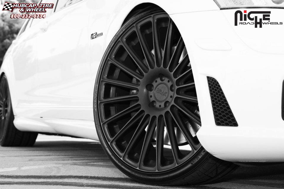 Mercedes benz s63 niche stance wheels matte black for Mercedes benz wheel and tire protection