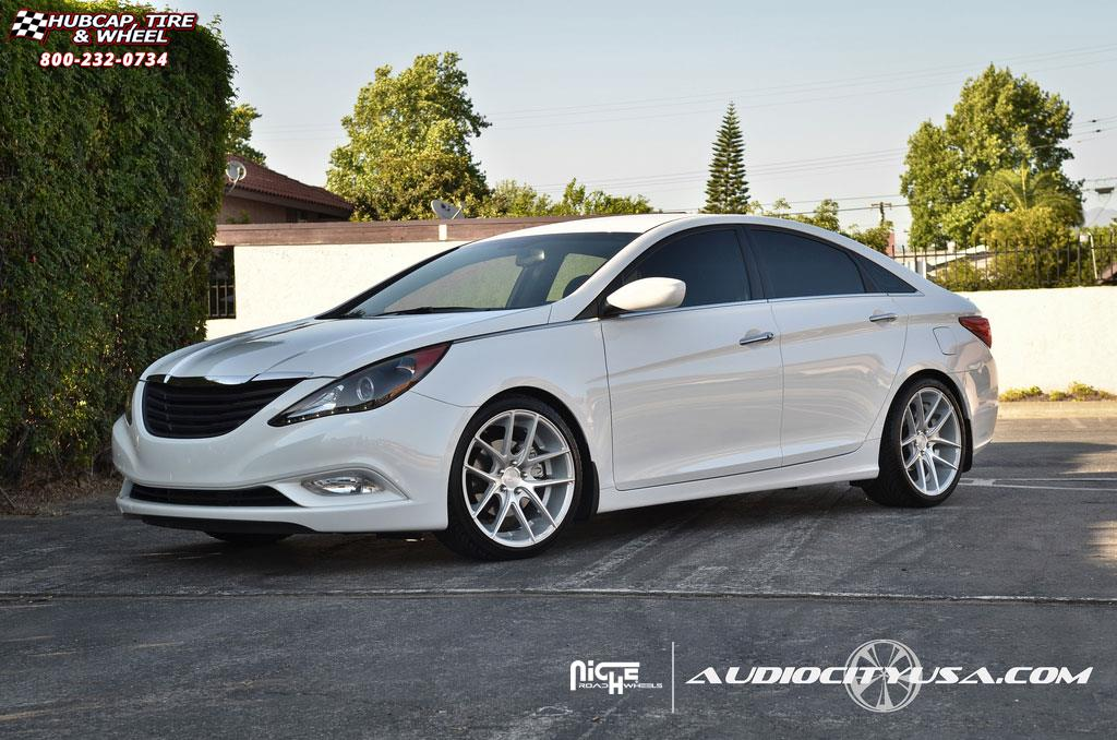 Hyundai Sonata Niche Targa M131 Wheels Silver Amp Machined