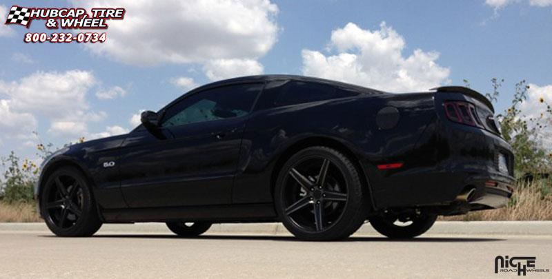 Ford Mustang Gt Niche Apex M126 Wheels Black Amp Machined