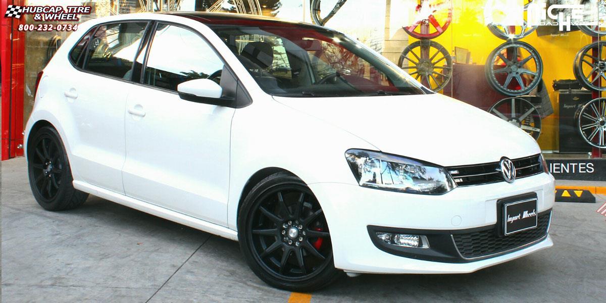 Volkswagen Polo Niche Nr10 M122 Wheels Matte Black