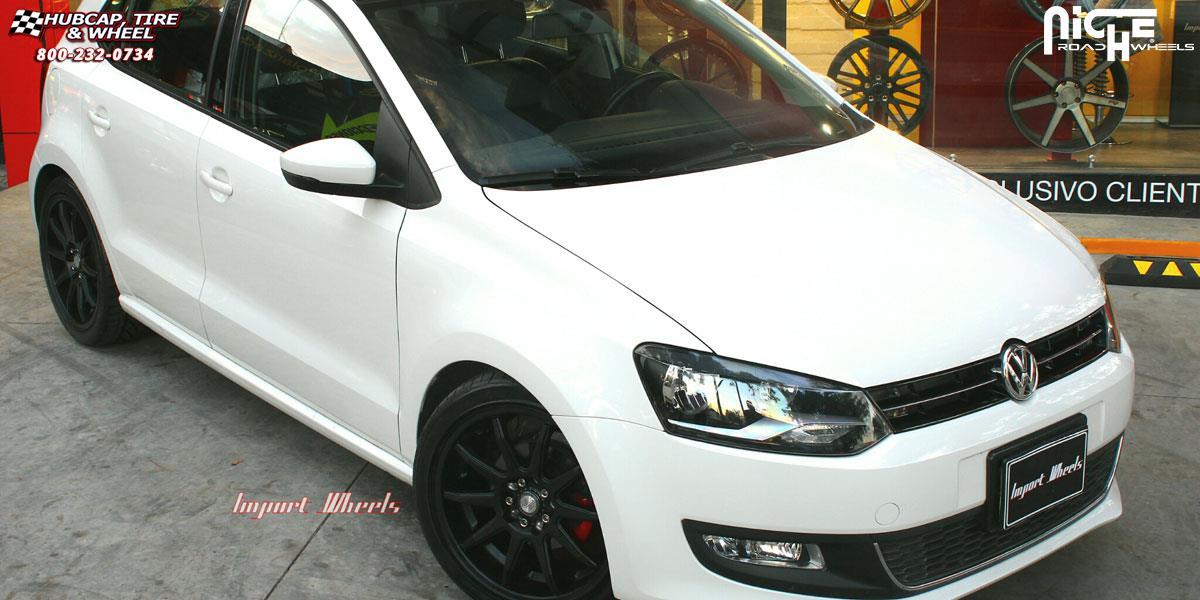 Volkswagen Polo Niche NR10 - M122 Wheels Matte Black