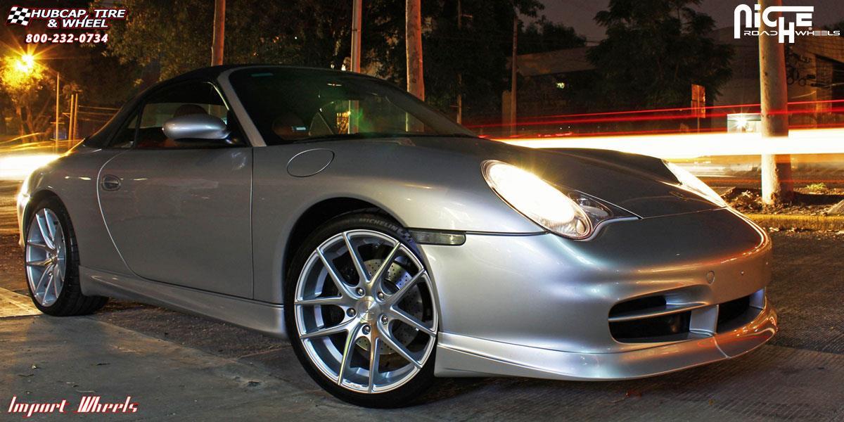Porsche 911 Niche Targa M131 Wheels Silver Amp Machined
