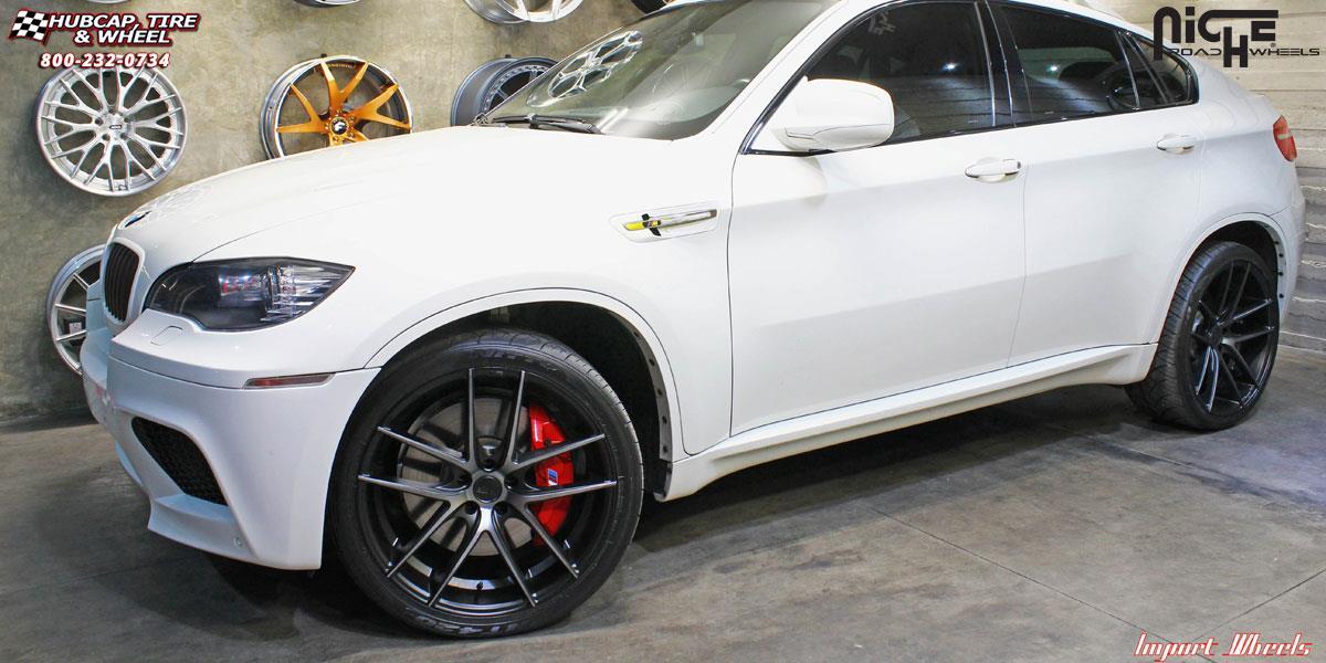 Bmw X6 Niche Targa M130 Wheels Black Amp Machined With Dark Tint