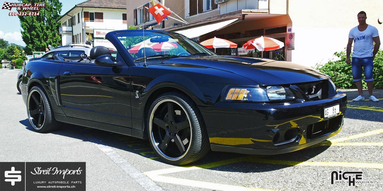 Ford Cobra Truck 2017 >> Ford Mustang Cobra SVT Niche Nurburg - M880 Wheels Matte Black / Black Stainless