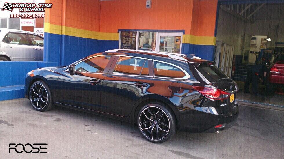 2014 Mazda 6 Foose Outkast F150 Wheels Gloss Black Milled