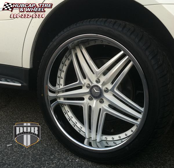 Mercedes benz gl dub x 58 wheels matte black w red accents for Mercedes benz wheel and tire protection