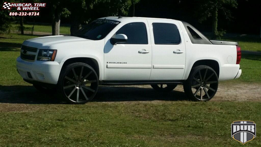 Chevrolet Avalanche Dub Shot Calla - S121 Wheels Black ...