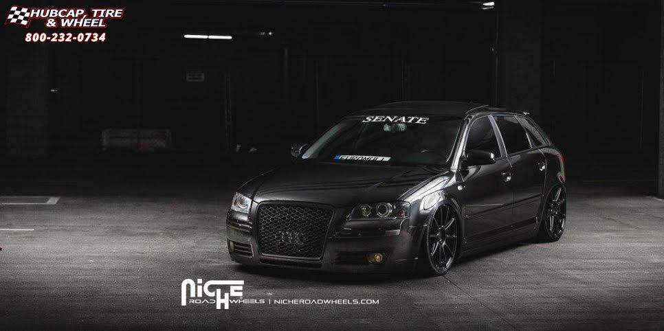 Audi A3 Niche Essen M147 Wheels Matte Black