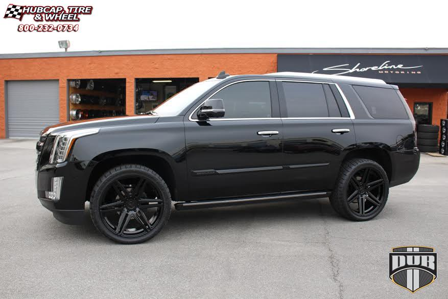 Cadillac Escalade Dub Skillz S123 Wheels Black