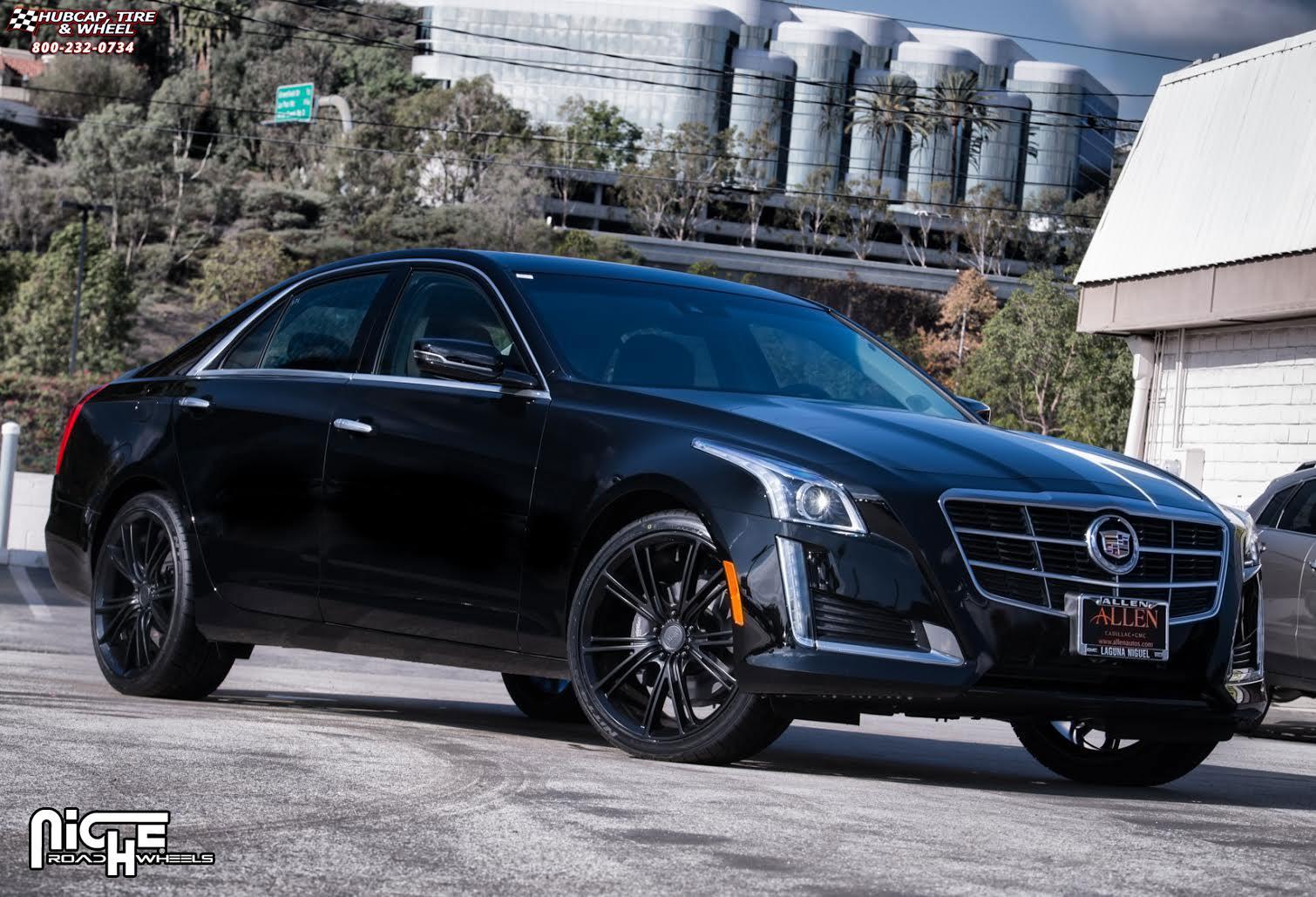 Cadillac Cts Niche Ritz M144 Wheels Satin Black