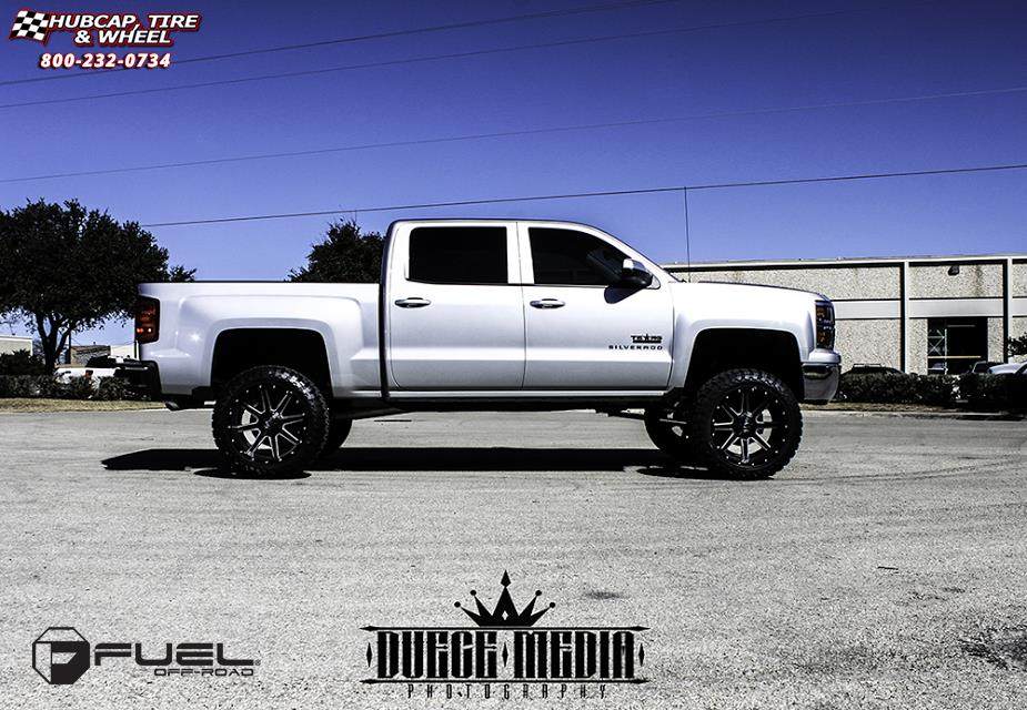 Chevrolet silverado fuel maverick d262 wheels black milled