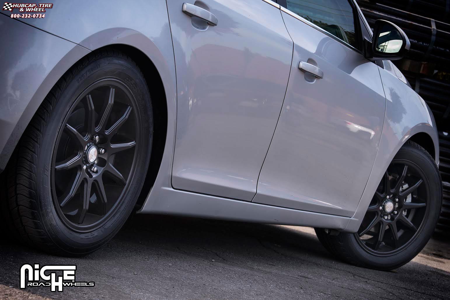2013 Chevy Cruze Tire Size >> Chevrolet Cruze Niche NR10 - M122 Wheels Matte Black