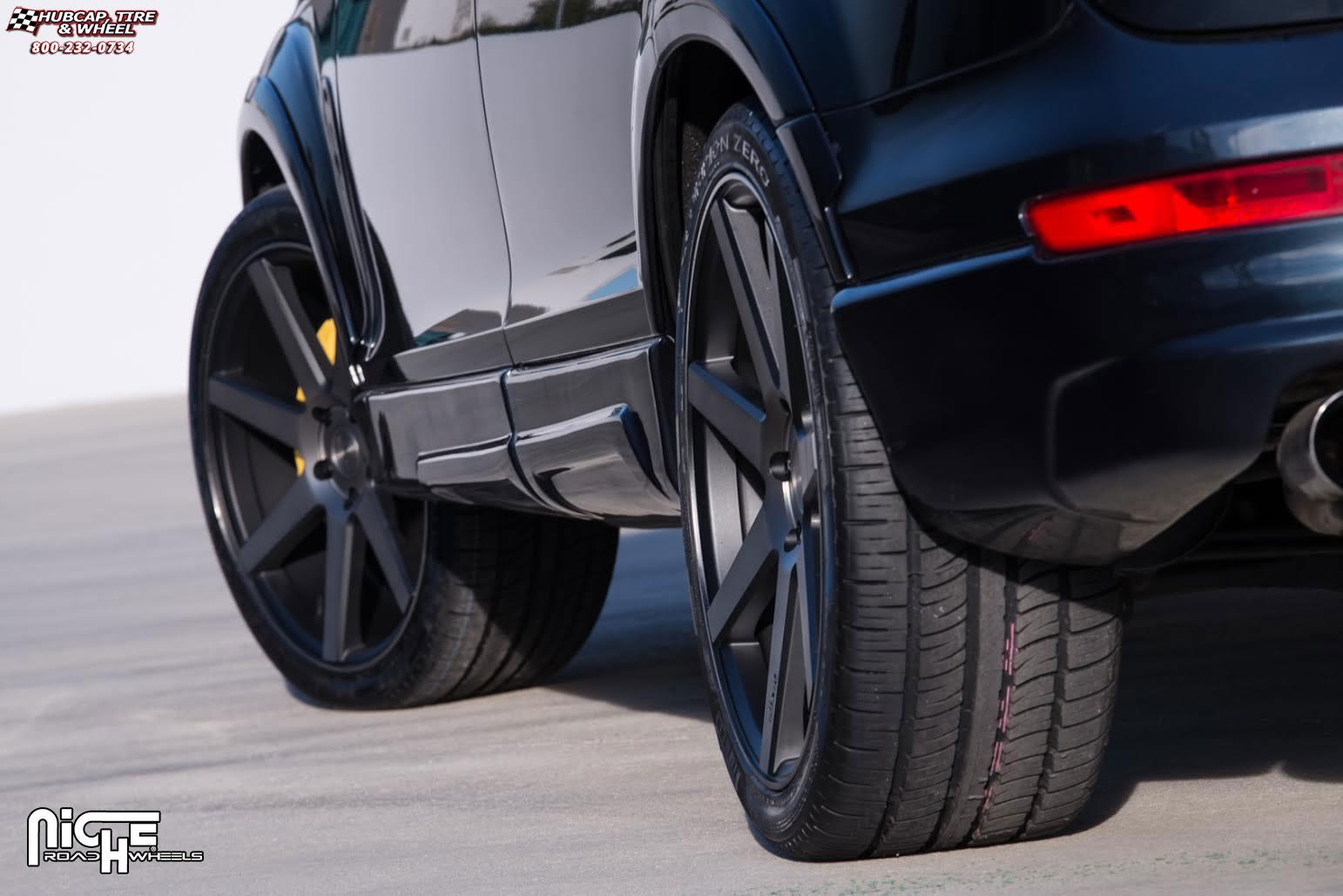 Audi Q7 Niche Verona M150 Wheels Black Amp Machined With