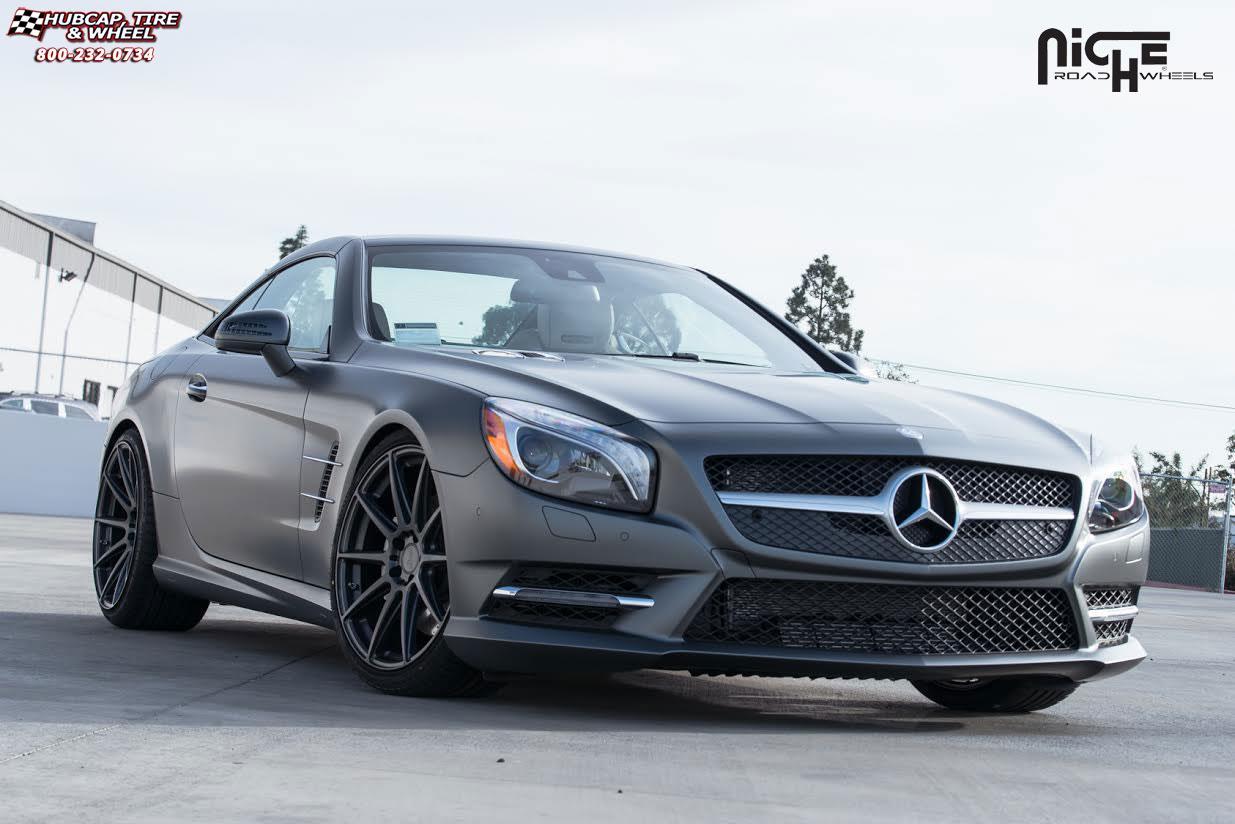 Mercedes benz sl550 niche essen m147 wheels matte black for Mercedes benz tire rims