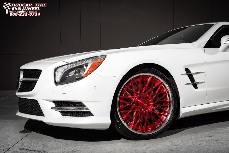 Mercedes benz sl550 niche citrine h79 wheels brushed for Mercedes benz wheel and tire protection