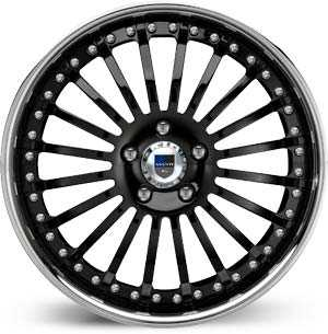 Asanti AF 122  Wheels Black / Chrome Lip