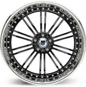 Asanti AF 128  Wheels Black / Chrome Lip