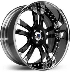 Asanti AF 142  Wheels Black / Chrome Lip