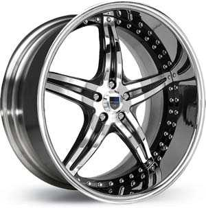 Asanti AF 144  Wheels Chrome / Black Inlay