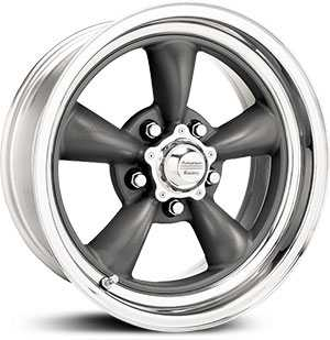 17x8 American Racing Hot Rod Torq Thrust Ii Gray Center Polished