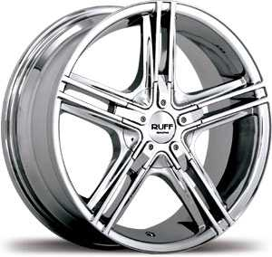20x7.5 Ruff Racing R933 Chrome HPO