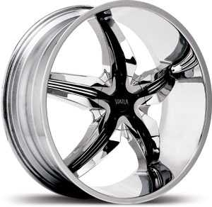 Status S822 Dystany  Wheels Chrome/Black Inserts