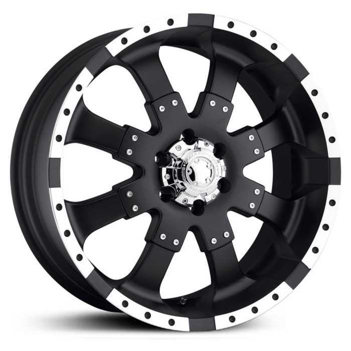 Ultra 223/224B Goliath  Wheels Matte Black / High Luster Accents