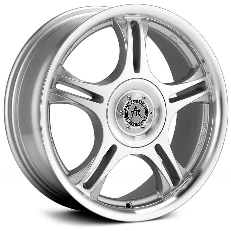 18x7.5 American Racing Estrella AR95 Machined w/ Clear Coat HPO