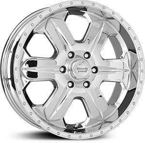 17x8.5 American Racing Fuel AR321 Chrome RWD