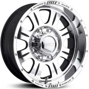 17x8 Eagle Alloy 140 Super Finish Black RWD