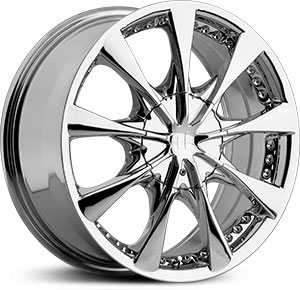 18x7.5 Helo 827 Chrome HPO
