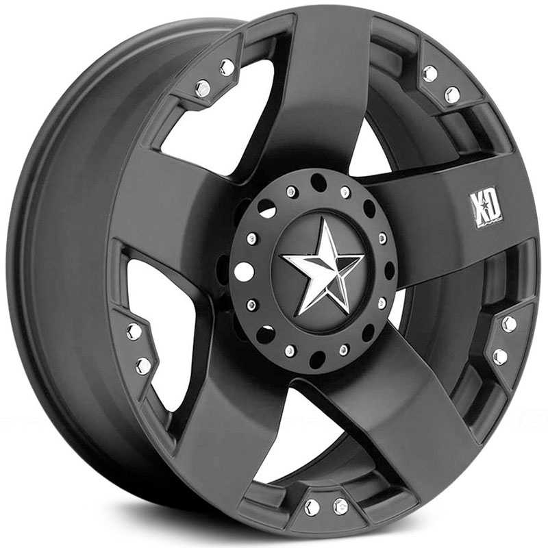 KMC 775 XD Series Rockstar  Wheels Matte Black